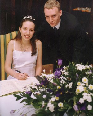 Our wedding - taken in July 2000